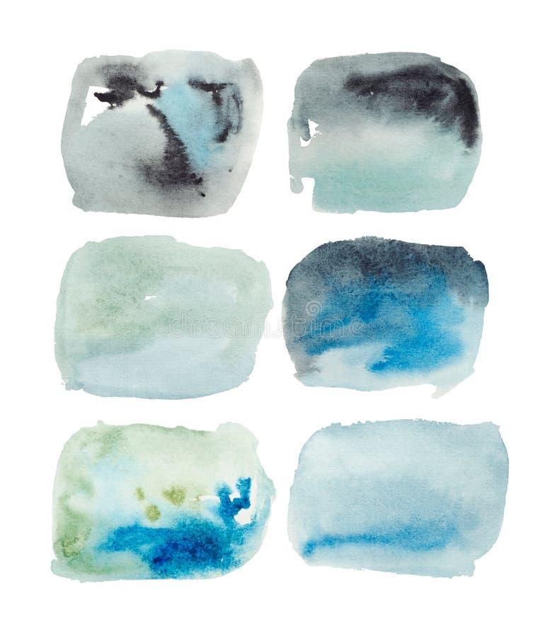 De abstracte grafiek van waterverfillustraties royalty-vrije illustratie