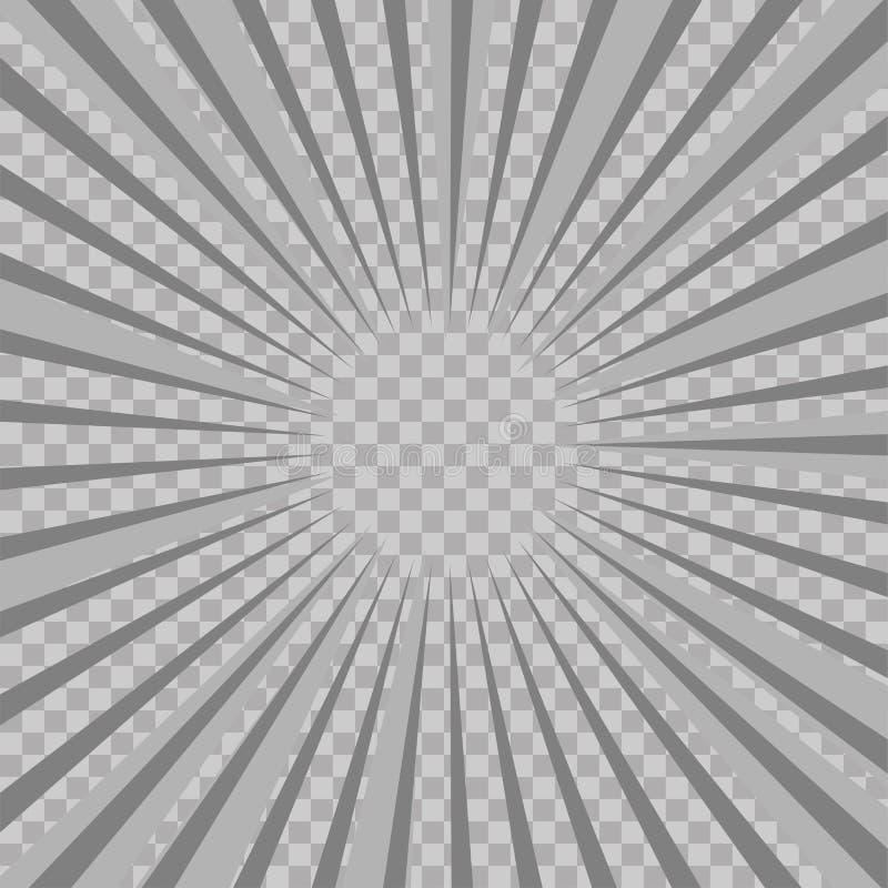 De abstracte grappige achtergrond van de explosie radiale lijnen van de boekflits Vectorillustratie voor superheroontwerp Heldere vector illustratie