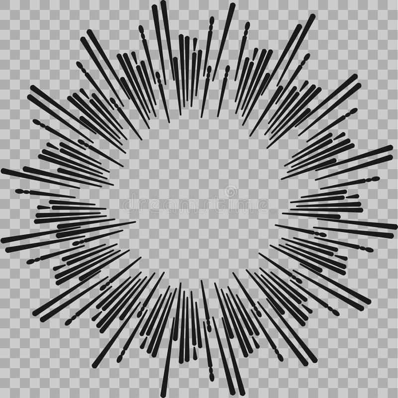 De abstracte grappige achtergrond van de explosie radiale lijnen van de boekflits Vectorillustratie voor superheroontwerp Heldere