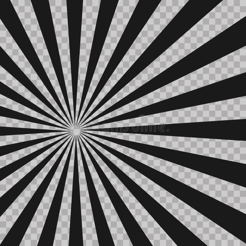 De abstracte grappige achtergrond van de explosie radiale lijnen van de boekflits Illusiestralen Retro het ontwerpelement van zon vector illustratie