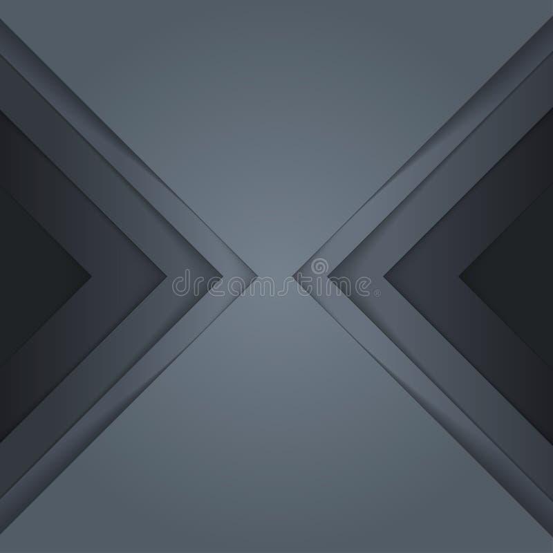 De abstracte grijze document achtergrond van driehoeksvormen royalty-vrije illustratie