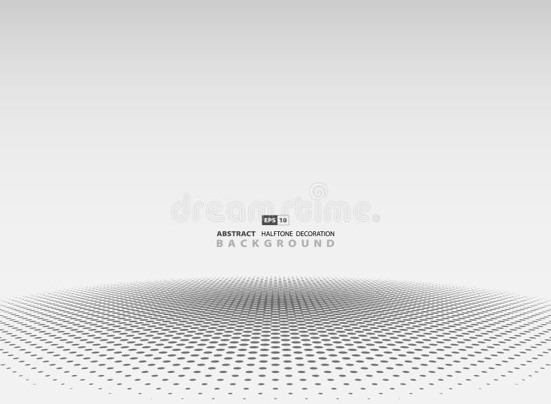 De abstracte grijze halftone achtergrond van de cirkeldecoratie Illustratie vectoreps10 stock illustratie