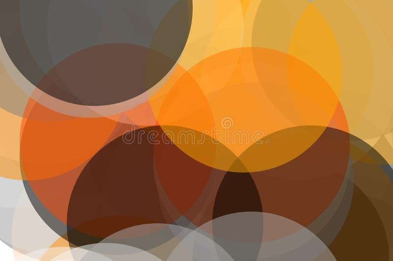 De abstracte grijze oranje achtergrond van de cirkelsillustratie stock illustratie