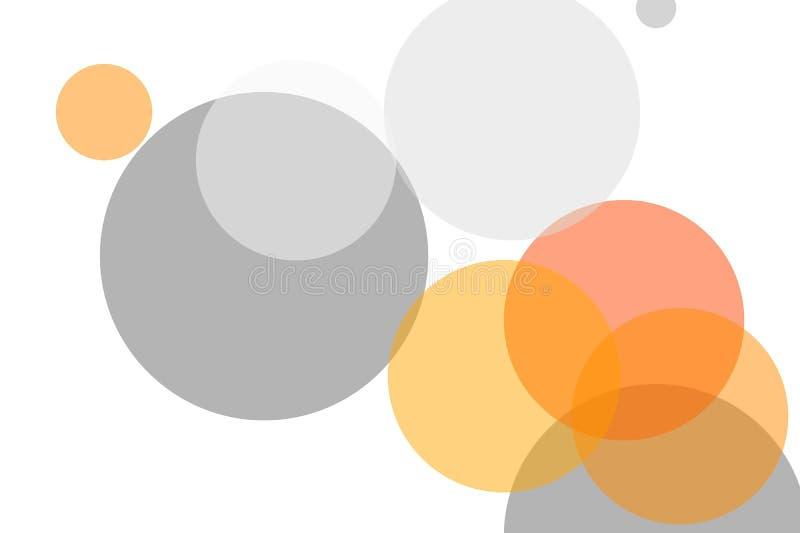 De abstracte grijze oranje achtergrond van de cirkelsillustratie vector illustratie