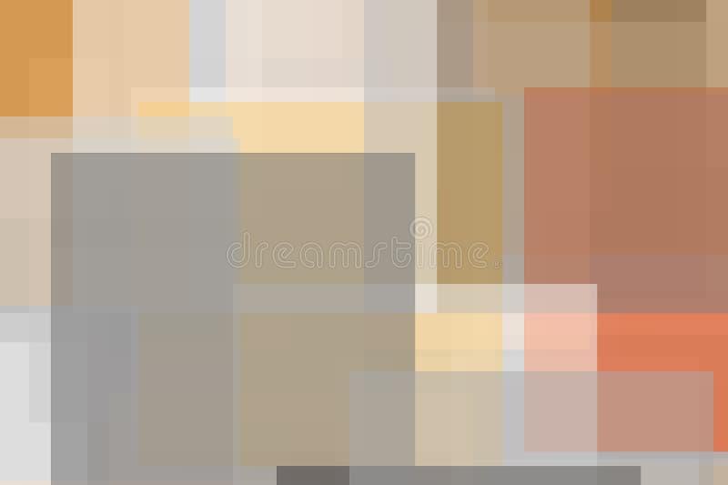 De abstracte grijze oranje achtergrond van de vierkantenillustratie stock illustratie