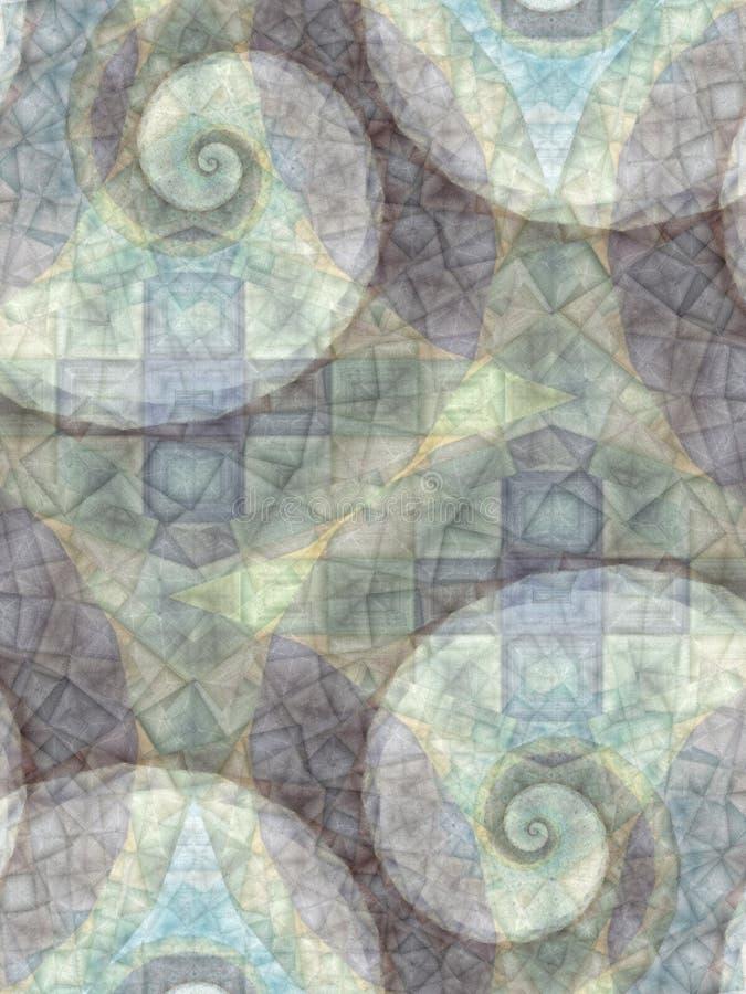 De abstracte Grijze Spiralen van Patronen royalty-vrije stock foto's