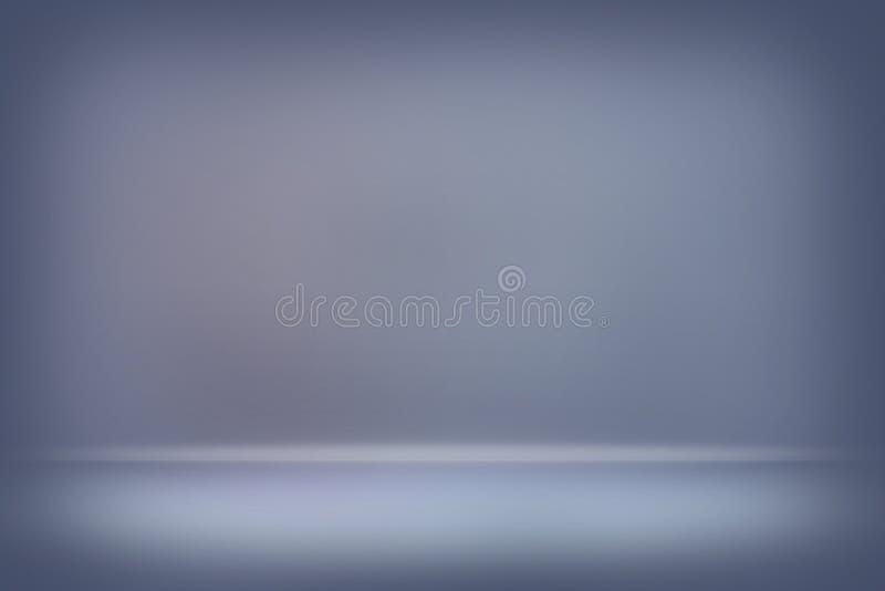De abstracte grijze vage vlotte muur van de achtergrondkleurengradiënt royalty-vrije stock foto's