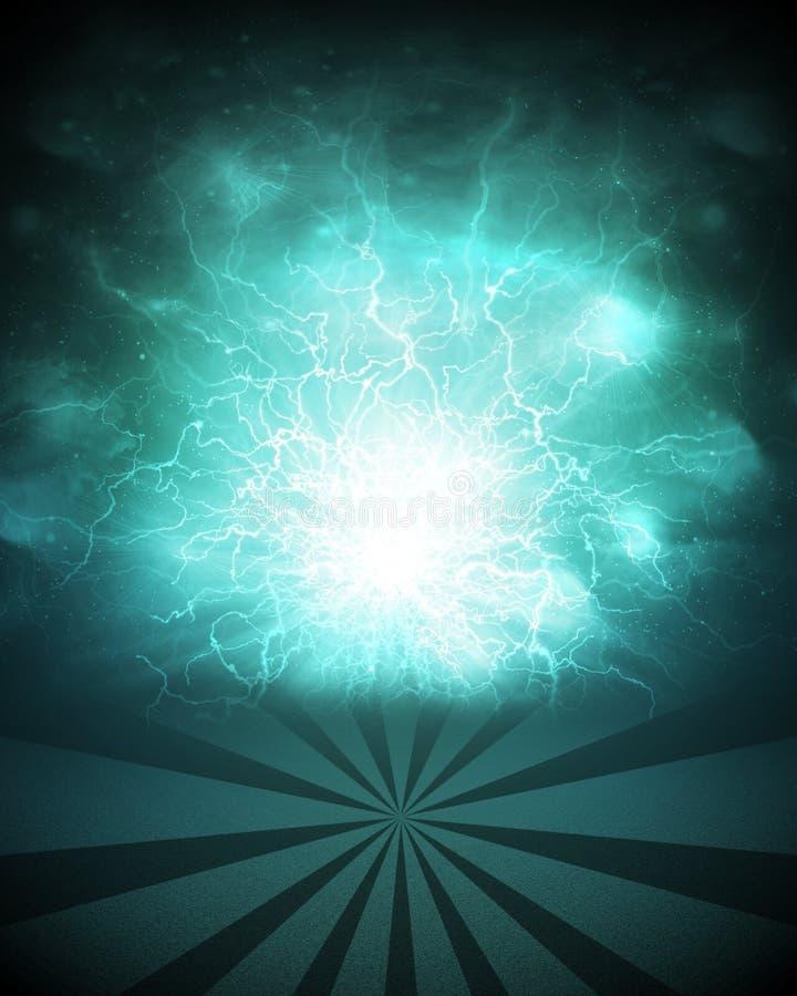 De abstracte groene achtergrond is nachthemel en strepen vector illustratie
