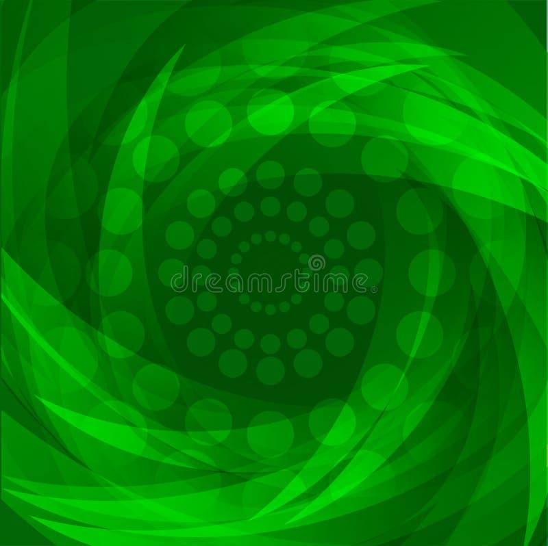 De abstracte Groene Achtergrond van Golven Vectorbehang stock foto's