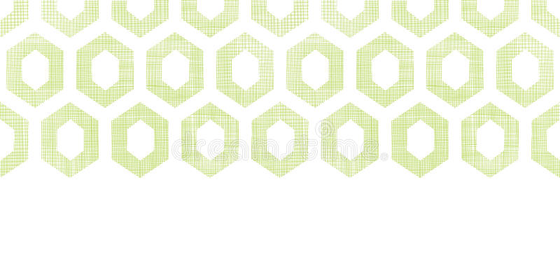 De abstracte groene achtergrond van het het knipsel horizontale naadloze patroon van de stoffen geweven honingraat vector illustratie