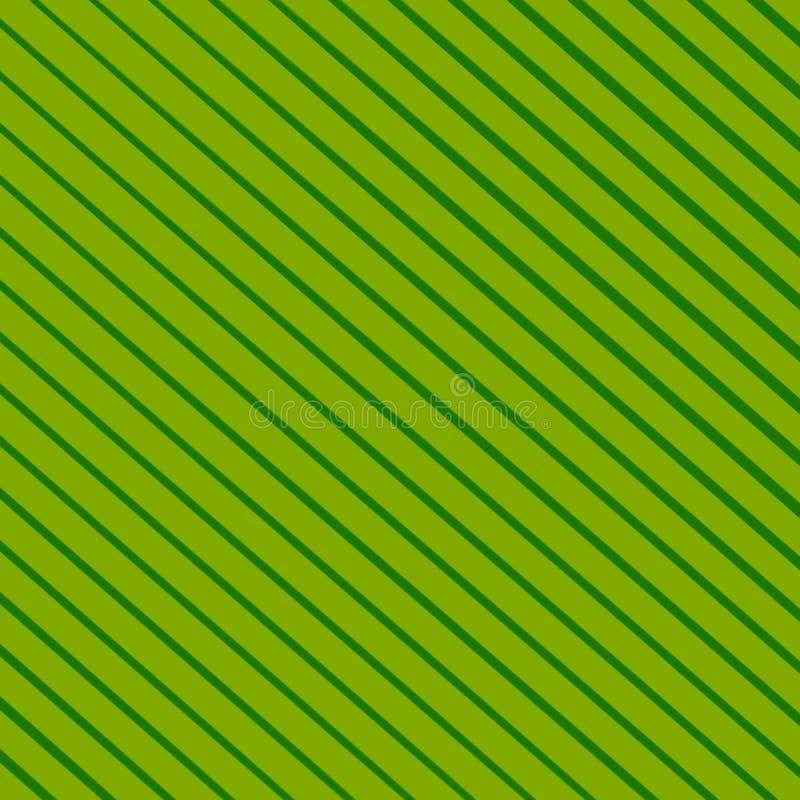 De abstracte groene achtergrond van de lijnenstrepen van de gradiëntkleur schuine royalty-vrije illustratie