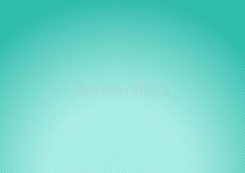 De abstracte groene achtergrond van de munt radiale gradiënt met diagonale lijnentextuur stock illustratie
