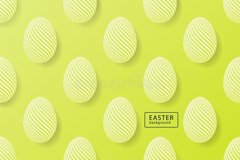 De abstracte groene achtergrond van Pasen met zwart kader voor tekst Crea vector illustratie