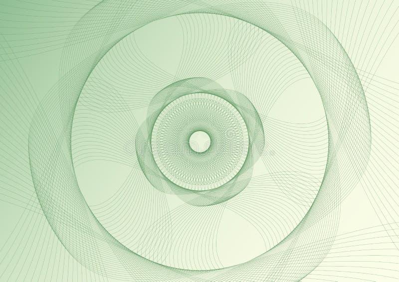 De abstracte guilloche textuur van de patroonvector ingewikkelde lijn royalty-vrije illustratie