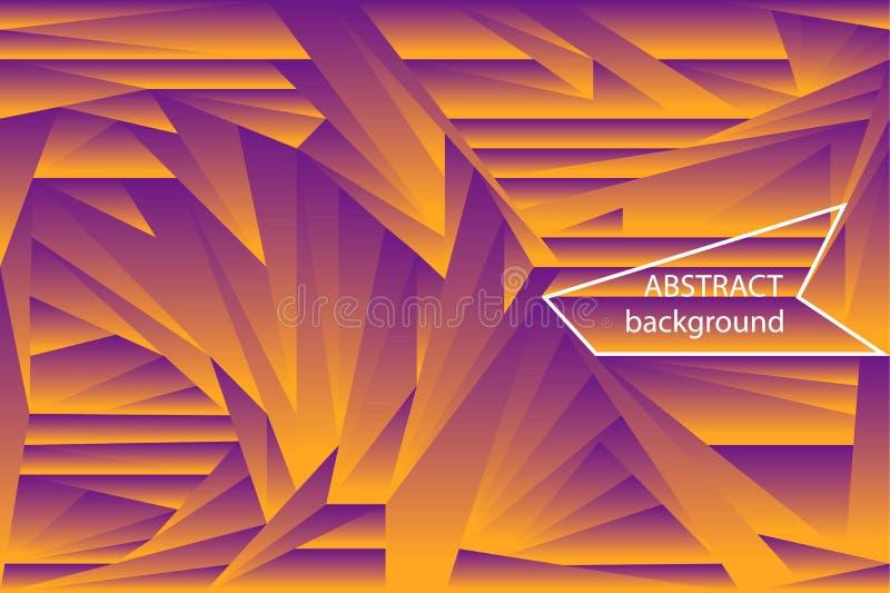 De abstracte halftone achtergrond van gradiënt futuristische veelhoekige vormen royalty-vrije illustratie