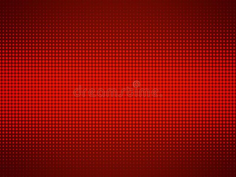 De abstracte halftone achtergrond van de punten rode gradiënt royalty-vrije illustratie