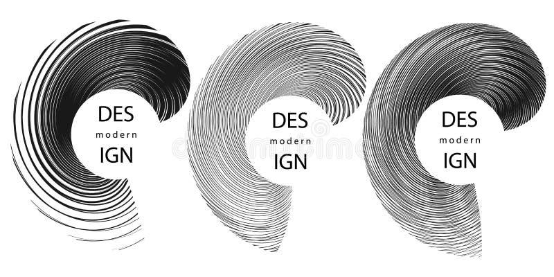 De abstracte halftone achtergronden van de lijnencirkel vector illustratie