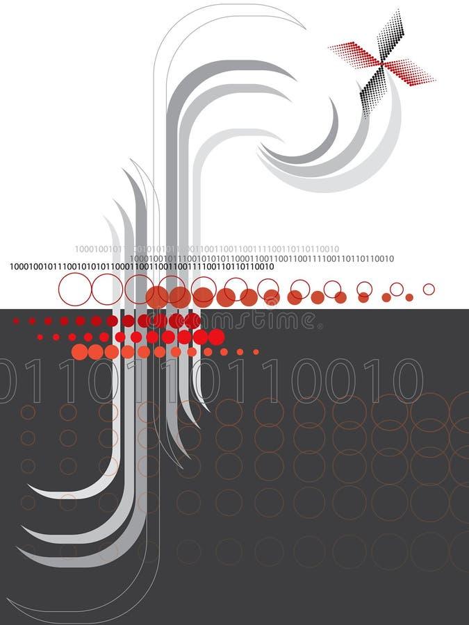 De abstracte halftone rode zwarte van F stock illustratie