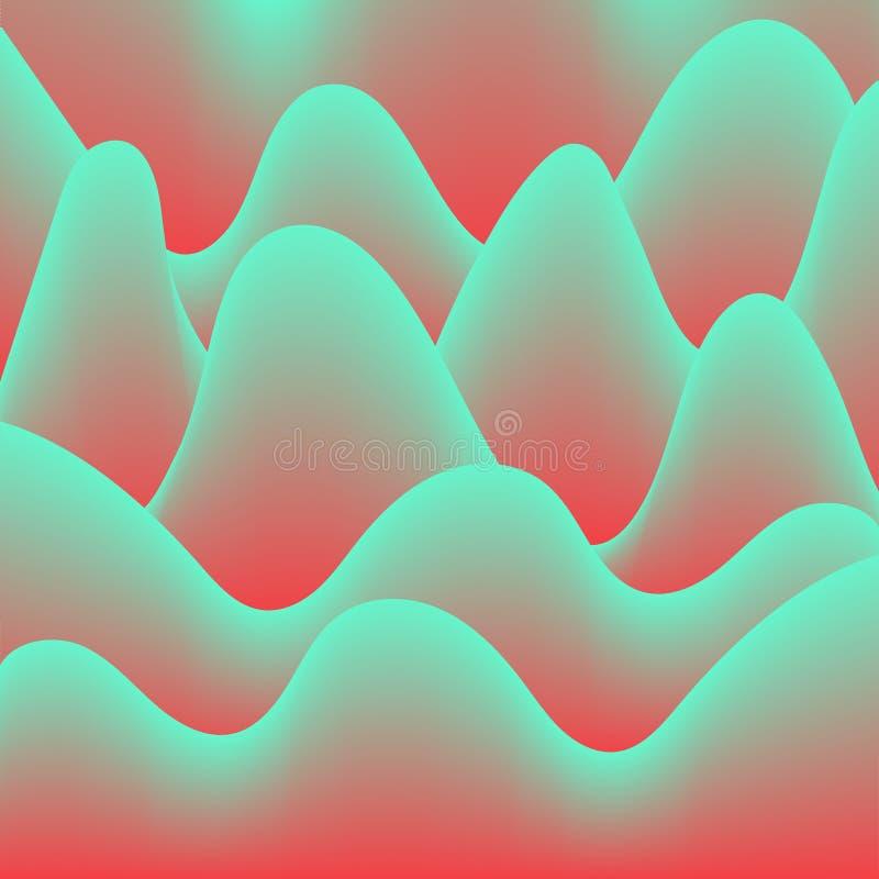De abstracte hallucinatie van de achtergrondgolvengradiënt, vectorachtergrond die, vat gekleurde golven samen adverteren vector illustratie