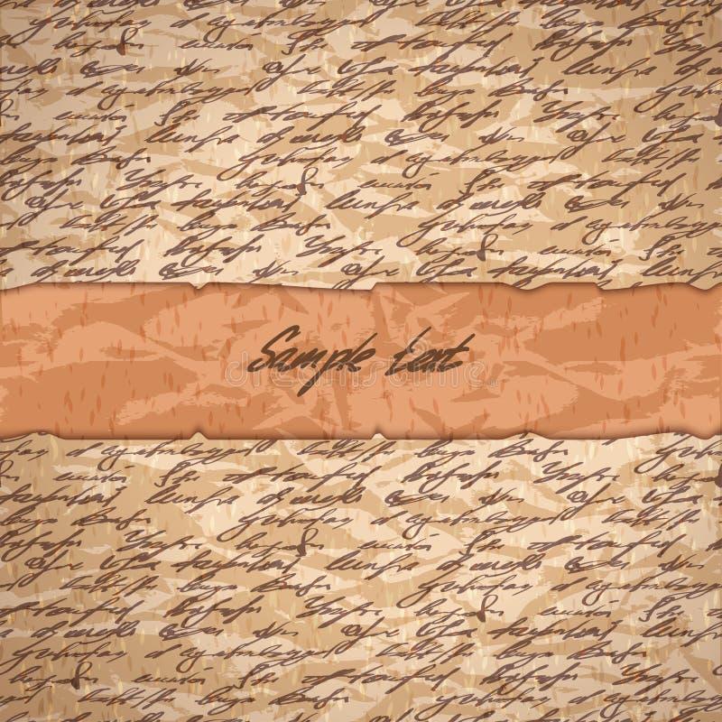 De abstracte hand schrijft achtergrond voor tekst vector illustratie