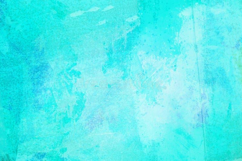 De abstracte heldere blauwe die oppervlakte heeft een borstel op de achtergrond voor grafisch ontwerp wordt geschilderd royalty-vrije stock foto