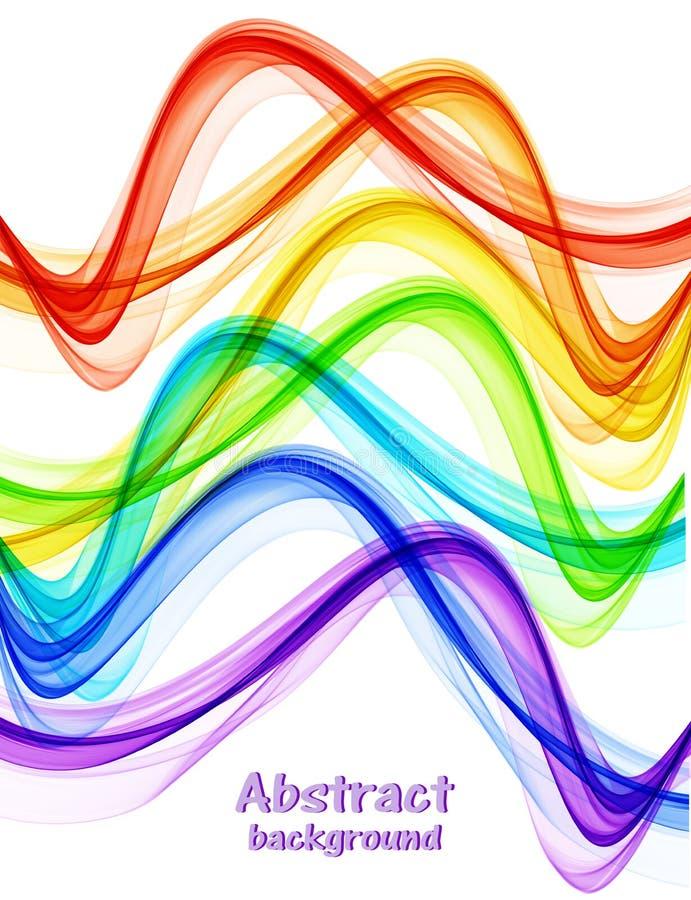 De abstracte heldere golven van de regenboogkleur stock fotografie