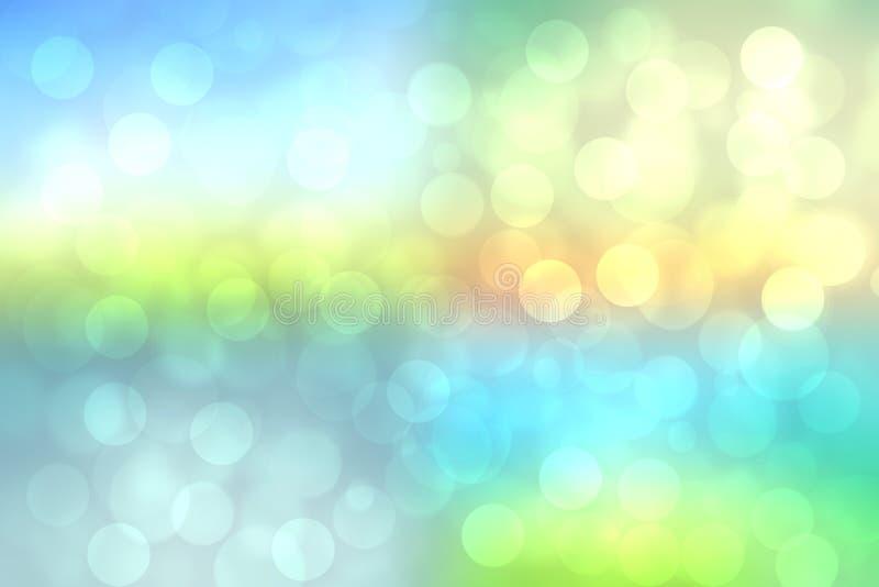 De abstracte heldere lente van de gradiëntmotie of de textuurachtergrond van het de zomerlandschap met natuurlijke groenachtig bl stock illustratie