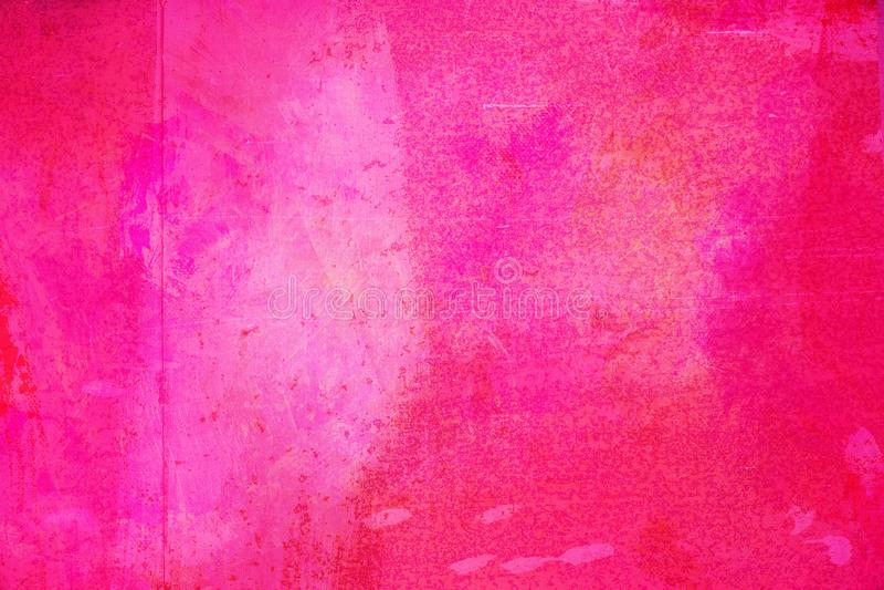 De abstracte heldere roze die oppervlakte heeft een borstel op de achtergrond voor grafisch ontwerp wordt geschilderd stock foto's
