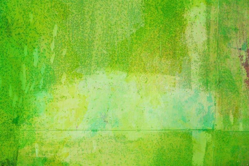De abstracte heldergroene die oppervlakte heeft een borstel op de achtergrond voor grafisch ontwerp wordt geschilderd stock foto's
