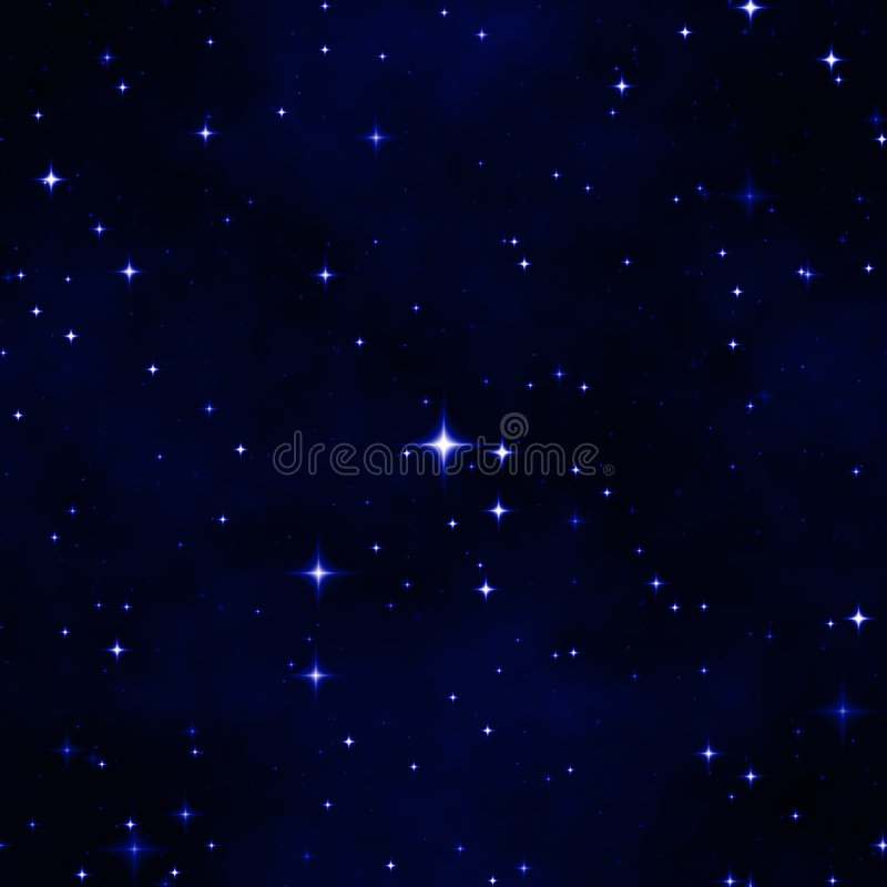 De abstracte hemel van de sternacht stock illustratie