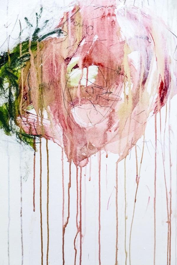 De abstracte het schilderen achtergrond van de detailtextuur met penseelstreken stock afbeeldingen