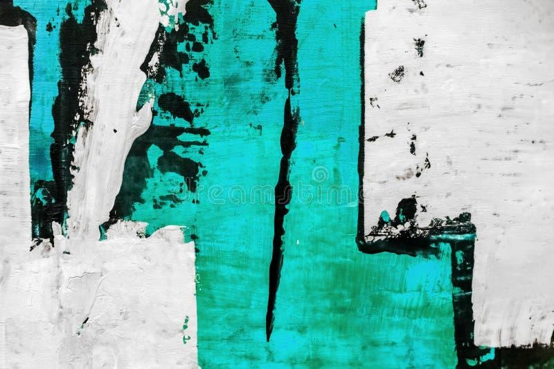De abstracte het schilderen achtergrond van de detailtextuur met penseelstreken stock fotografie