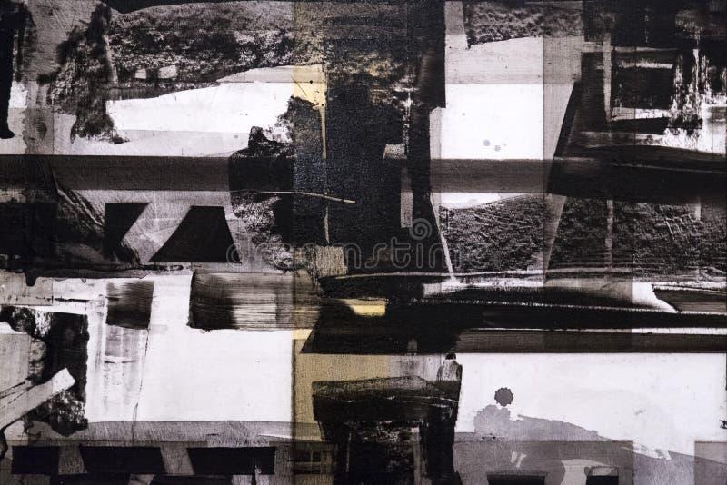 De abstracte het schilderen achtergrond van de detailtextuur met penseelstreken stock afbeelding