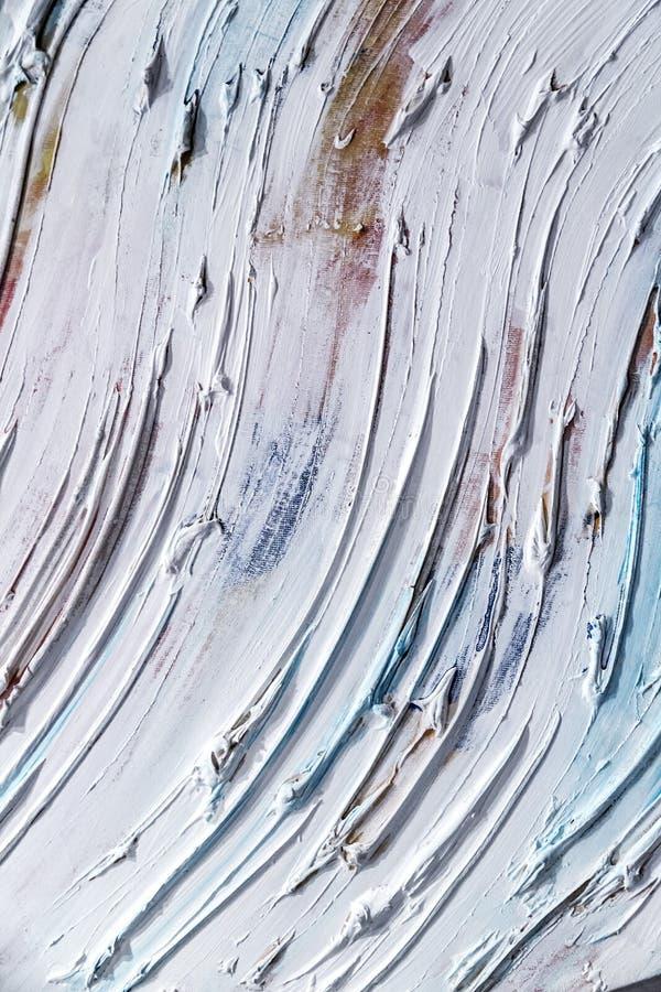 De abstracte het schilderen achtergrond van de detailtextuur met penseelstreken stock foto's
