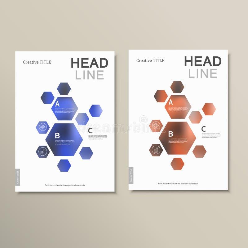 De abstracte hexagonale vormen van het ontwerpmalplaatje vector illustratie