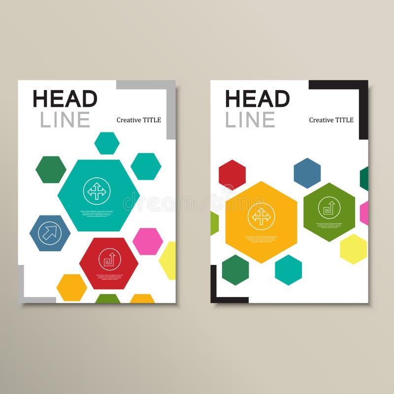 De abstracte hexagonale vormen van het ontwerpmalplaatje royalty-vrije illustratie