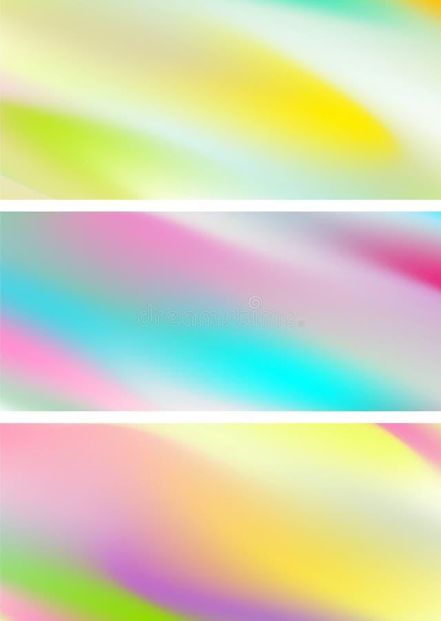 De abstracte holografische zachte achtergronden van gradiëntstrepen stock illustratie