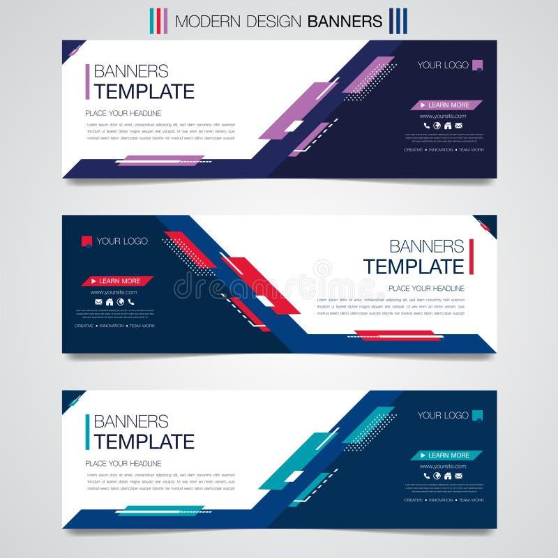 De abstracte horizontale bedrijfsbanner geometrische vormen ontwerpen achtergrond of de kopbalmalplaatjesplaats van het Web vastg royalty-vrije illustratie