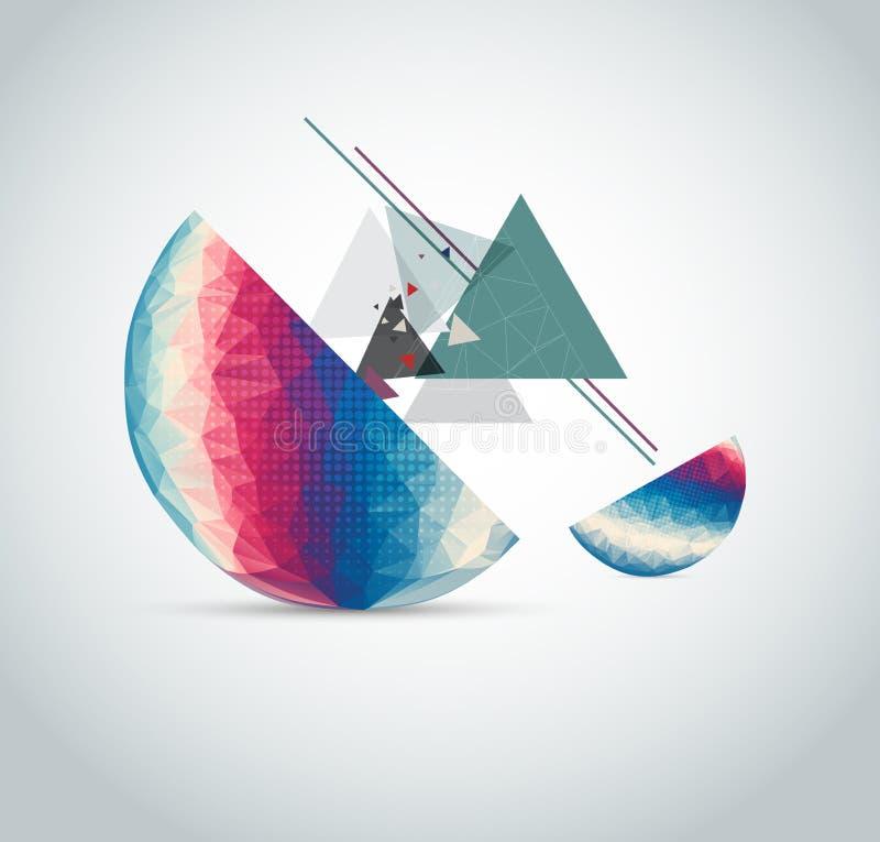 De abstracte illustratie van de driehoekslijn van gebied vector illustratie