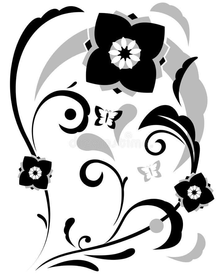 Download De Abstracte Illustratie Van Fantasiebloemen Vector Illustratie - Illustratie bestaande uit zwart, bevallig: 54075077