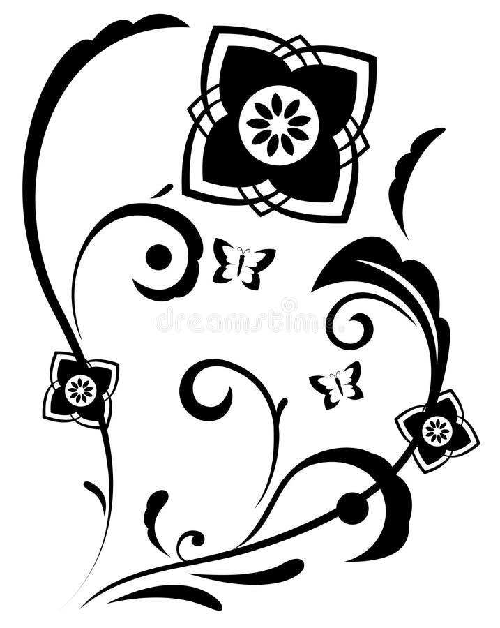 Download De Abstracte Illustratie Van Fantasiebloemen Vector Illustratie - Illustratie bestaande uit achtergrond, klassiek: 54075085
