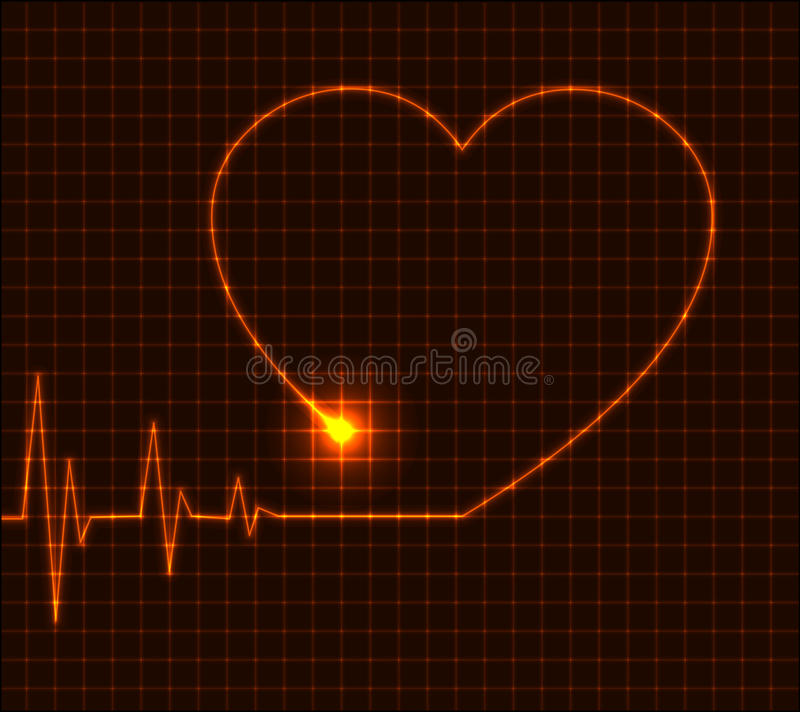 De abstracte illustratie van het hartcardiogram - vector royalty-vrije illustratie