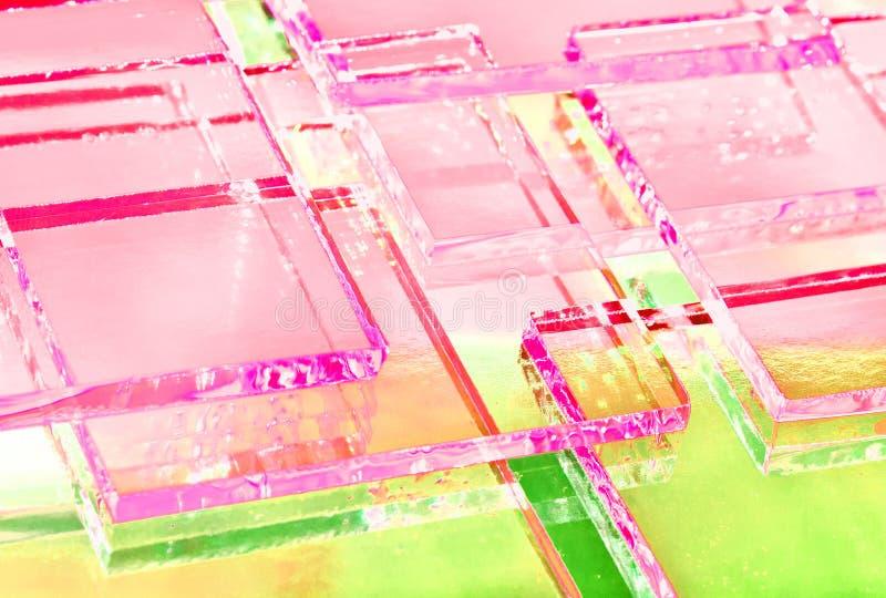 De abstracte illustratie van transparant gekleurd glas vector illustratie