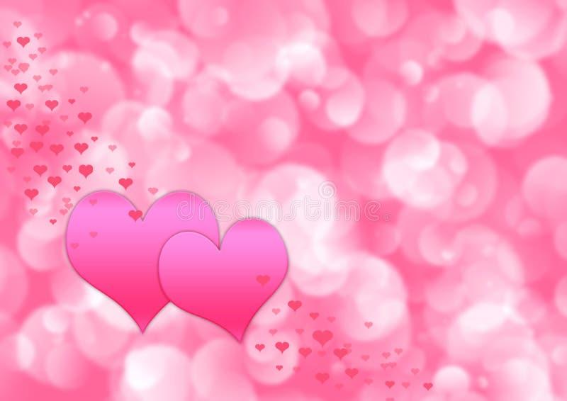 De abstracte illustratie van valentijnskaarten royalty-vrije illustratie