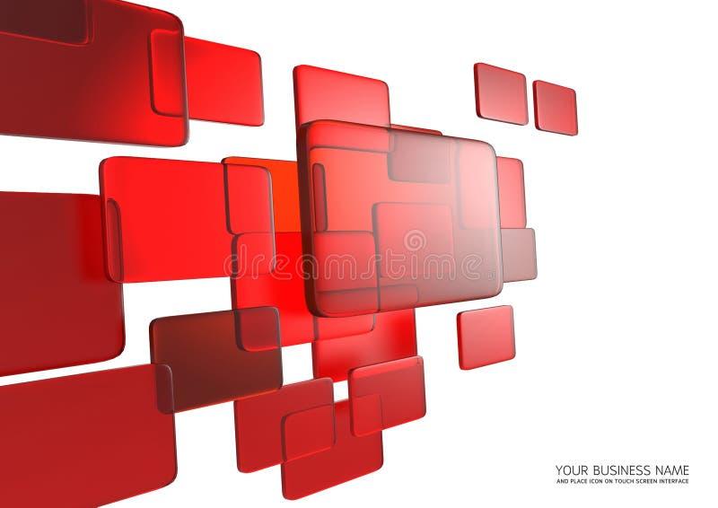 De abstracte interface van het aanrakingsscherm stock illustratie