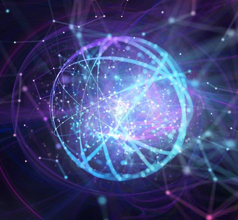 De abstracte Internet-achtergrond van het verbindingsnetwerk met motiegevolgen vector illustratie