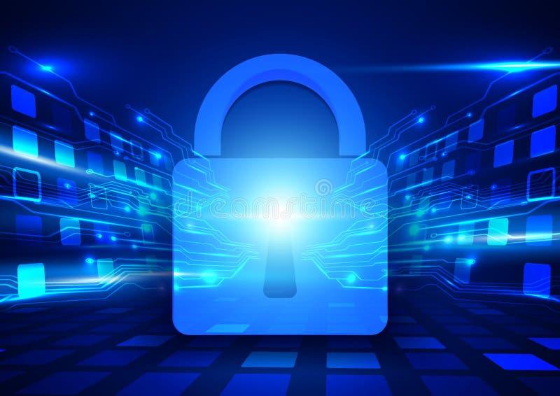 De abstracte Internet-veiligheid en achtergrond van het technologieconcept royalty-vrije illustratie