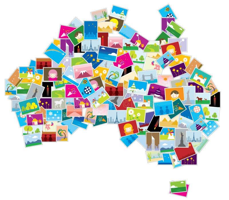 De abstracte kaart van Australië   vector illustratie
