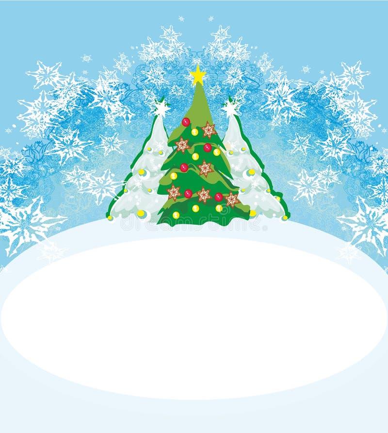 De abstracte Kaart van de Kerstboom stock illustratie
