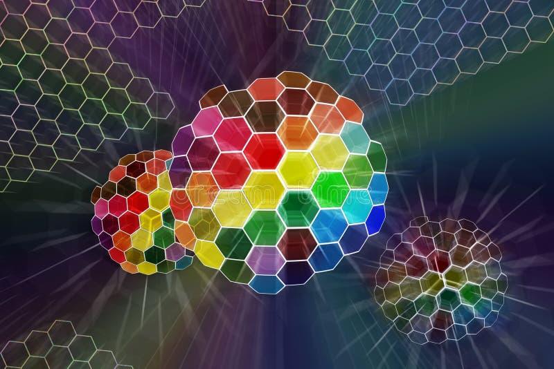 De abstracte kleur glanste gebied vector illustratie